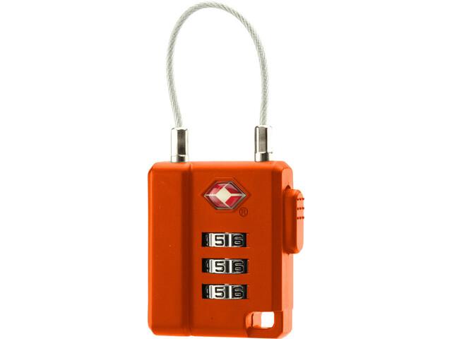 Basic Nature TSA Cadenas à combinaison avec câble, orange
